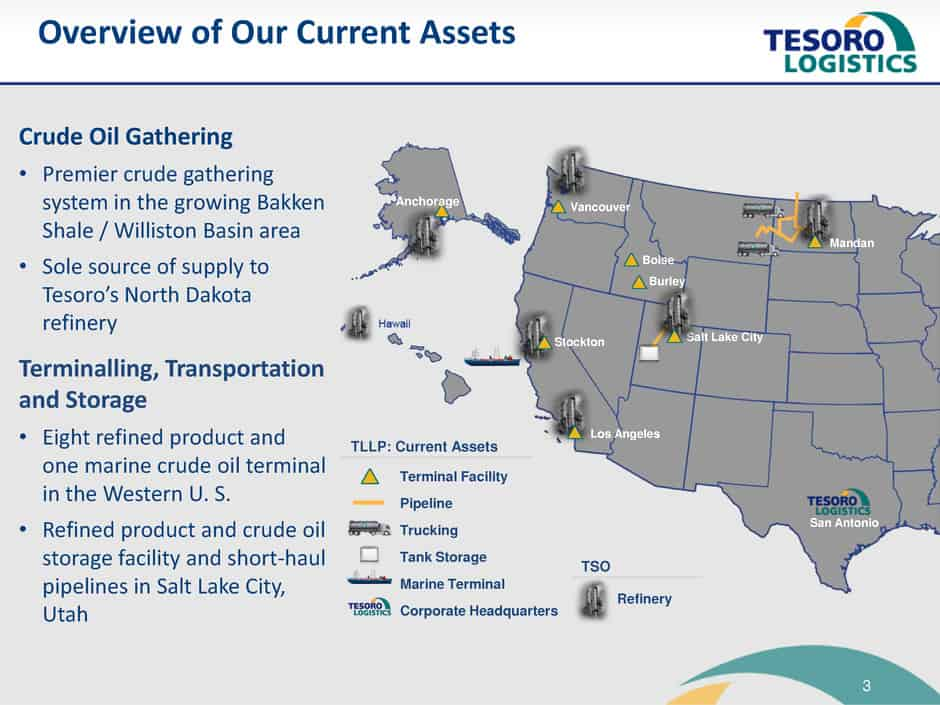 one of tesoro s biggest strengths is the location of their refineries through a mixture of luck and planning the company is well positioned to refine