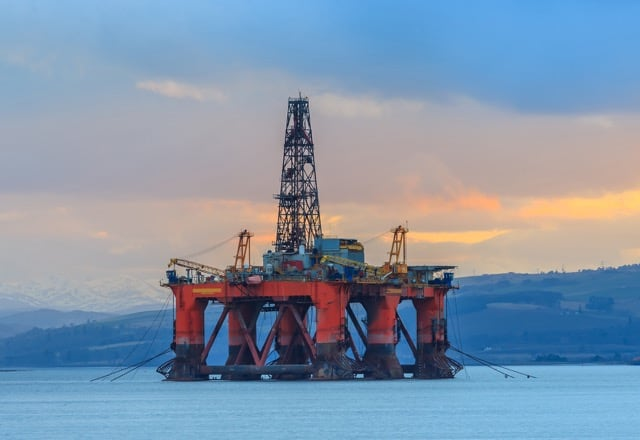 The coming decommissioning storm. Semi-submersible oil rig in Scotland