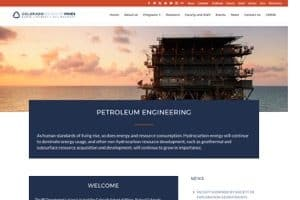 Colorado School of Mines Petroleum Engineering Department screenshot
