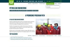 Missouri S T Petroleum Engineering website screenshot