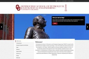 The Mewbourne School of Petroleum and Geological Engineering University of Oklahoma website screenshot