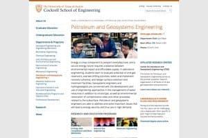 University of Texas at Austin - Cockrell School of Petroleum Engineering screenshot