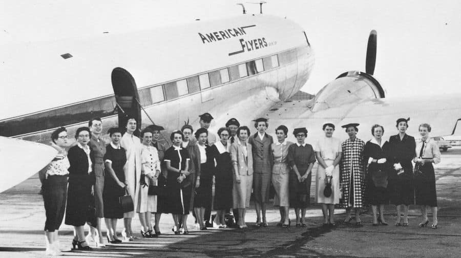 Amarillo Club member charter a plane to ADDC Convention in New Orleans, 1956.