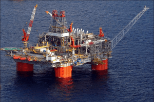 Photo of the BP Thunderhorse SemiSub in the Gulf of Mexico