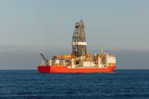 Drillship for offshore drilling